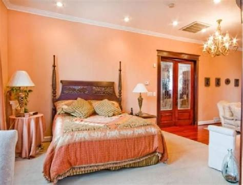 Salmon Colored Curtains Designs Bathroom Mousse Bedroom2 View Of Bed Closet Doors From Bathroom