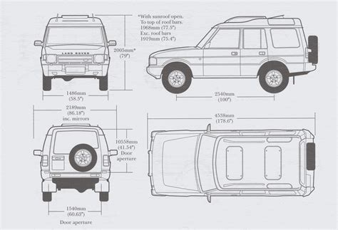 land rover discovery drawing land rover discovery 1996 blueprint download free