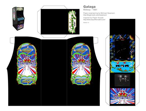 Arcade Papercraft - make your own mini galaga mike swanson s