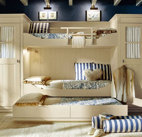 bedroom with 3 beds classic style children s bedroom by minacciolo