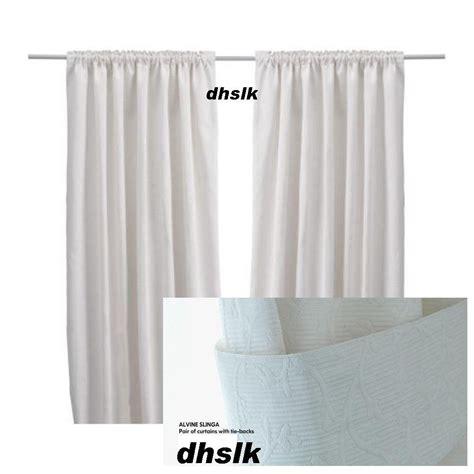 floral curtains ikea ikea alvine slinga white curtains drapes floral