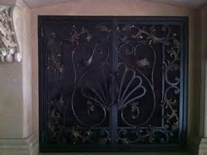 wrought iron maiden the fireplace screen