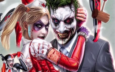 Collection of harley quinn y joker wallpapers gratis imagenes harley quinn and joker wallpaper 183 download free voltagebd Choice Image