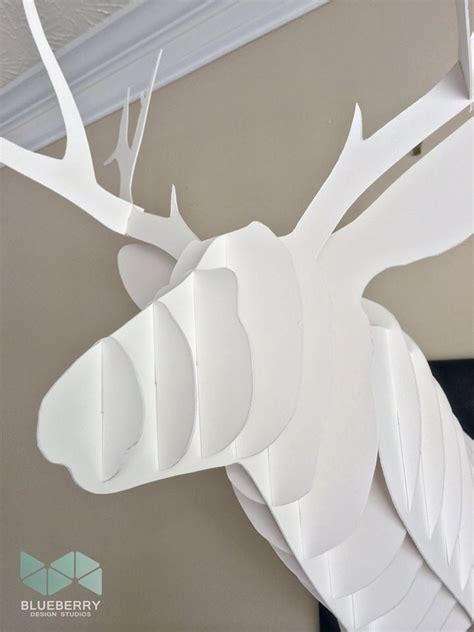 cardboard deer template cardboard animal heads templates images
