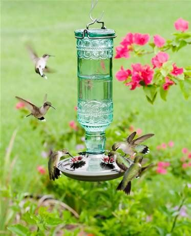 perky pet perky pet antique green bottle hummingbird