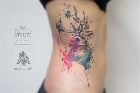 deer watercolor tattoo watercolor deer www pixshark images