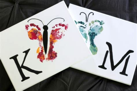 and footprint crafts how to make butterfly footprint