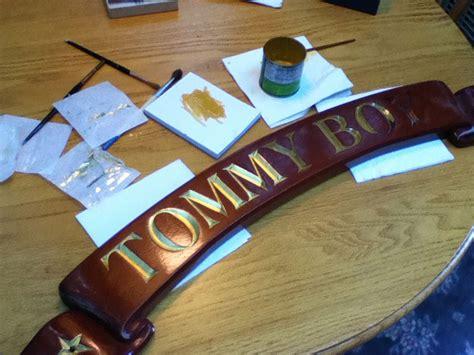 boat transom name boards boat lettering madison sign lettering