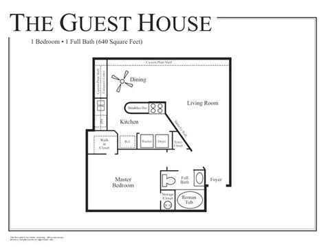 1 floor house plans beautiful 1 bedroom guest house floor plans inspirations