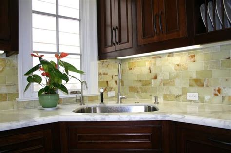 green onyx tile backsplash decor
