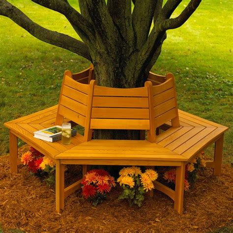 around the tree bench wrap around tree bench plans woodworking projects plans