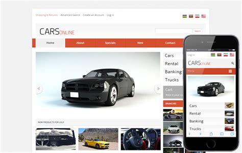 auto mobili de cars automobile mobile website template