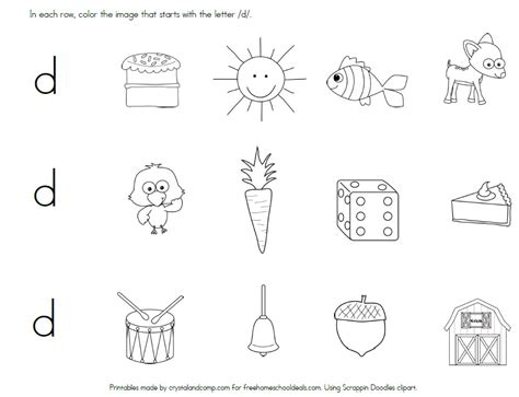 worksheets for preschoolers letter d free letter d worksheets instant download free