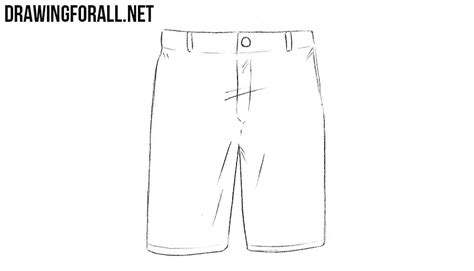 How To Draw Shorts On A