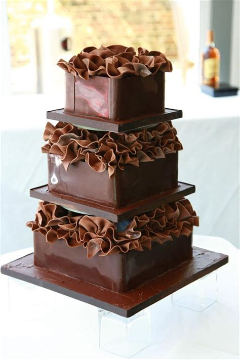 Chocolate Wedding Cake Images by 19 Watering Chocolate Wedding Cakes Wedding Cake