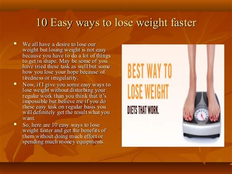 10 Safest Ways To Lose Weight by 10 Easy Ways To Lose Weight Faster