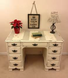 Small Shabby Chic Desk Shabby Chic Sloan Chalk Paint Desk With Chippy Paint By Furniture Alchemy Distressed Desk