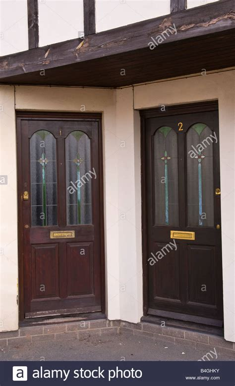 Two Modern Part Glazed Front Doors Stained Dark Brown Of Glazed Front Doors Uk