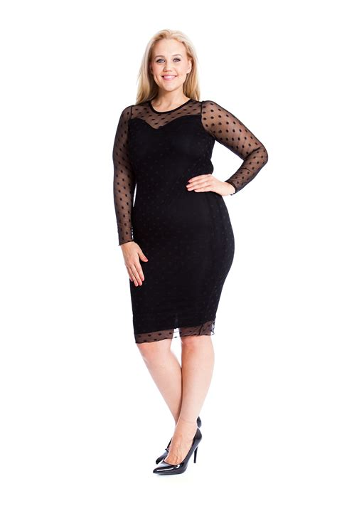 Dress Branded Style Co Ld 90cm Soft Polka Midi Dress Spandek Branded womens dress plus size bodycon sweetheart midi polka dot lace nouvelle ebay