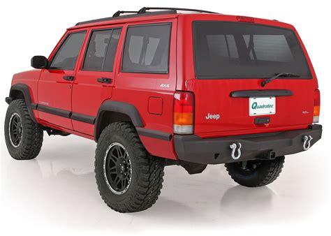 jeep xj stock bumper smittybilt 76850 xrc rear bumper for 84 01 jeep cherokee