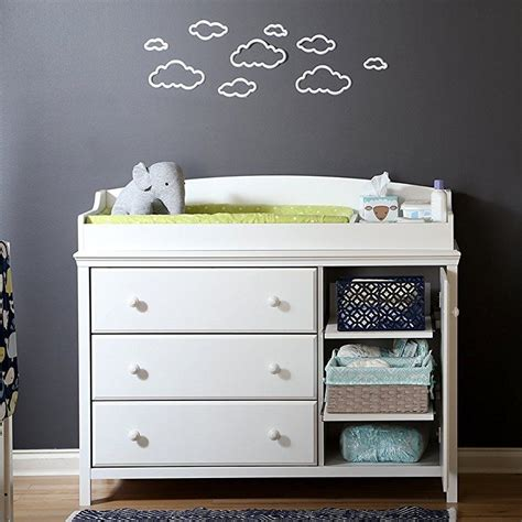 south shore cotton changing table with drawers gray south shore cotton changing table with 3 drawers 2