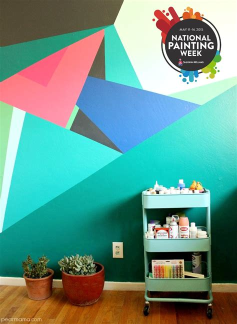 paint design paint this geometric wall design pearmama