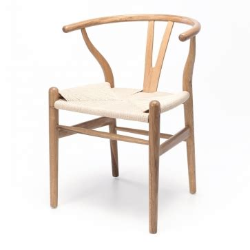 wishbone chair natural oak furniture  design fbd