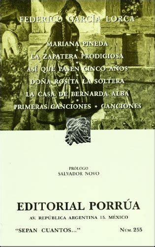 mariana pineda letras hispanicas for sale on books2go uottawa posting 267341 mariana pineda la zapatera prodigiosa asi