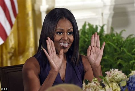 miss obama cuts hair michelle obama debuts a sleek new hair cut to present the
