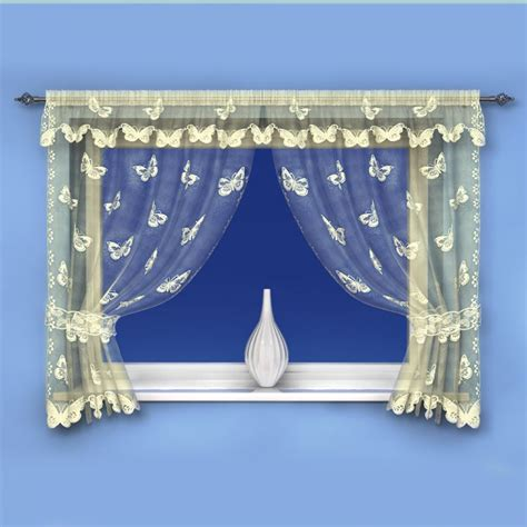 pattern net curtains butterfly pattern cream net curtain window set tonys