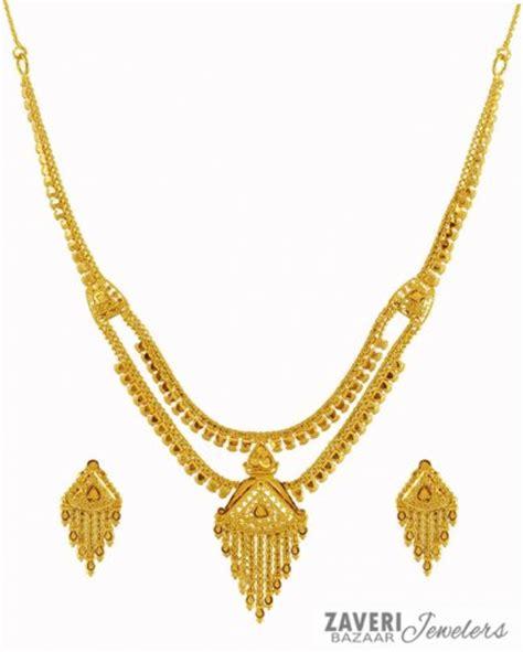 Light Weight 22K Gold Set   AjNs59600   22K Gold Necklace