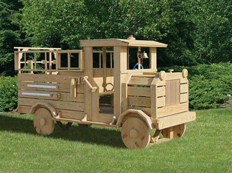 wood fire truck playset virginia playground kids