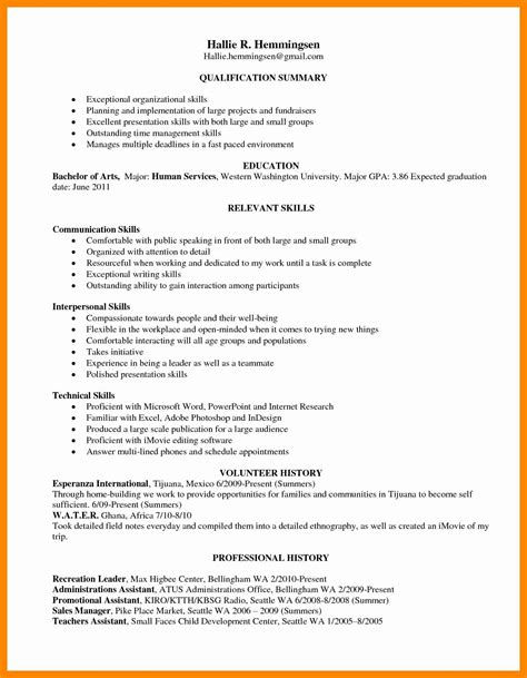 Skill Based Resume Template by 15 Fresh Skills Based Resume Template Resume Sle