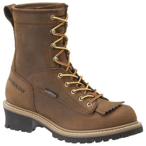 carolina boot s carolina 174 waterproof lace to toe logger boots
