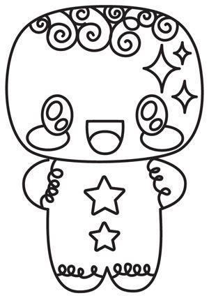 christmas coloring pages kawaii kawaii christmas gingerbread man urban threads unique