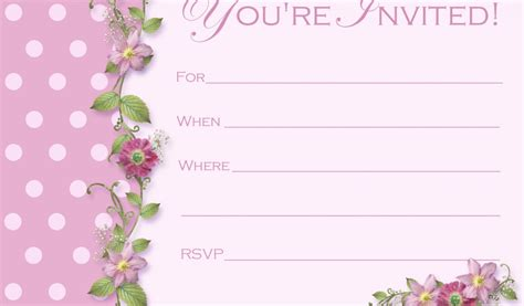 beautiful invitation card templates beautiful blank formal invitation card template 9 picture