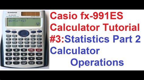 casio fx es calculator tutorial  statistics part