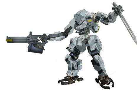 Of Robots Heavy Gun Barrel Ng 4 weapon mecha pencil and in color weapon mecha