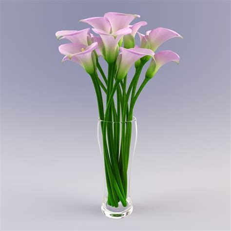 3d Flower Vase by 3d Vase Calla Flowers
