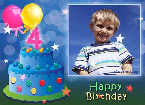 Happy Birthday Wishes 4 Year Boy Happy 4th Birthday Boy Add Greetings And Send Free Ecard