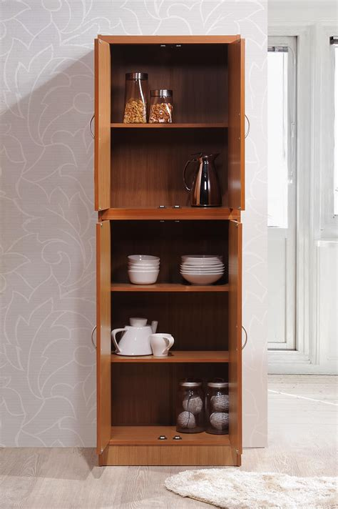 hodedah 4 door amazon com hodedah 4 door kitchen pantry with four