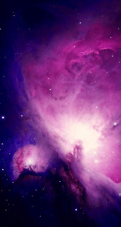 spectacular purple nebula space iphone   hd wallpaper