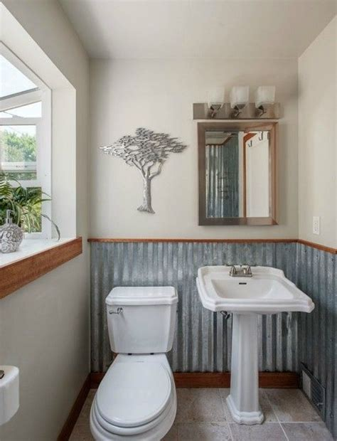 Laundry Room Plumbing - corrugated metal half bathlove the tree too interior designs
