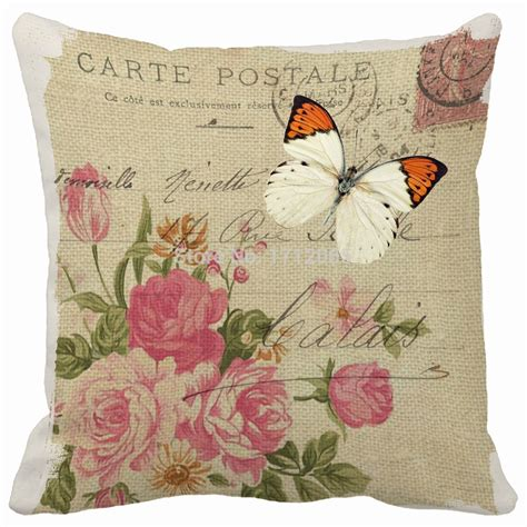 vintage butterfly flower print pillows cushions home decor