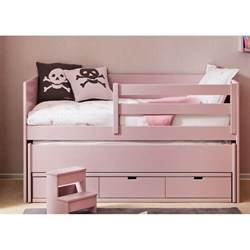 lit gigogne pour enfant avec 3 tiroirs de rangement sign 233