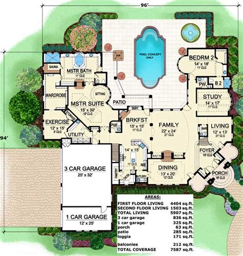 Luxury House Plans Posh Luxury architectural designs