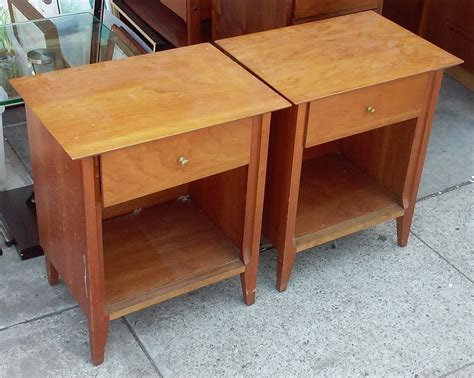 Uhuru Furniture Collectibles Sold Style Vintage Teak Nightstand 60 Uhuru Furniture Collectibles Sold 4477 Mid Century Style Teak Nightstands 135 Pair