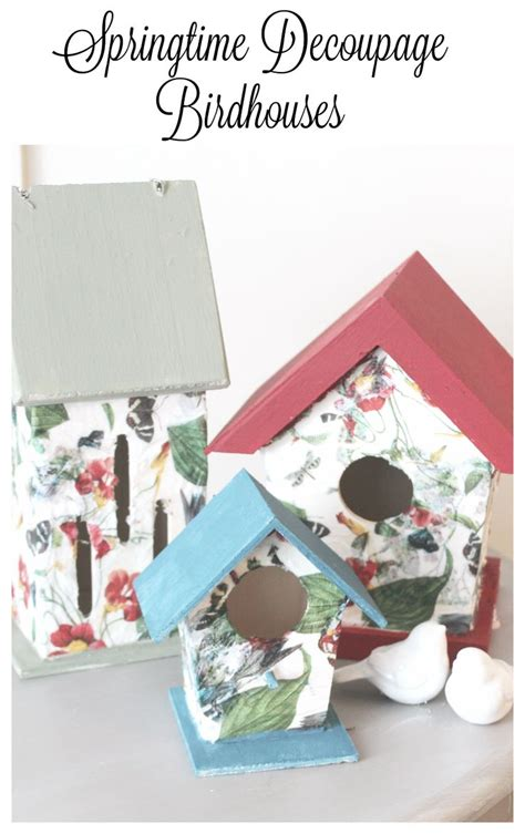 Napkin Tissue Decoupage 354 tissue napkin decoupage birdhouses matching paint colors easy diy crafts and birdhouse