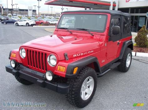 flame red jeep 2006 jeep wrangler rubicon 4x4 in flame red 709691