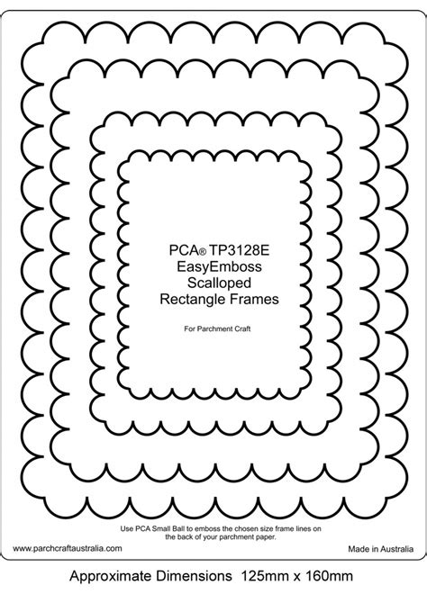 scalloped edge large with point card template scalloped rectangle frame clipart